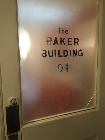 An old door from they Victorian days when Dr. Baker owned and worked in the building.