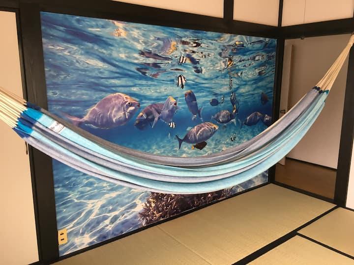 【和田浦海水浴場30秒】5部屋40名貸切| 無料駐車場 | BBQ | JR和田浦5分 | 和田浦