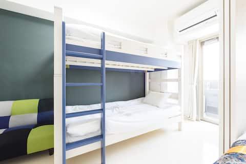 旅行中にもプライベートルームを確保!新築で清潔なお部屋#501