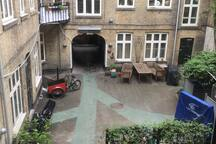 The view of the little courtyard