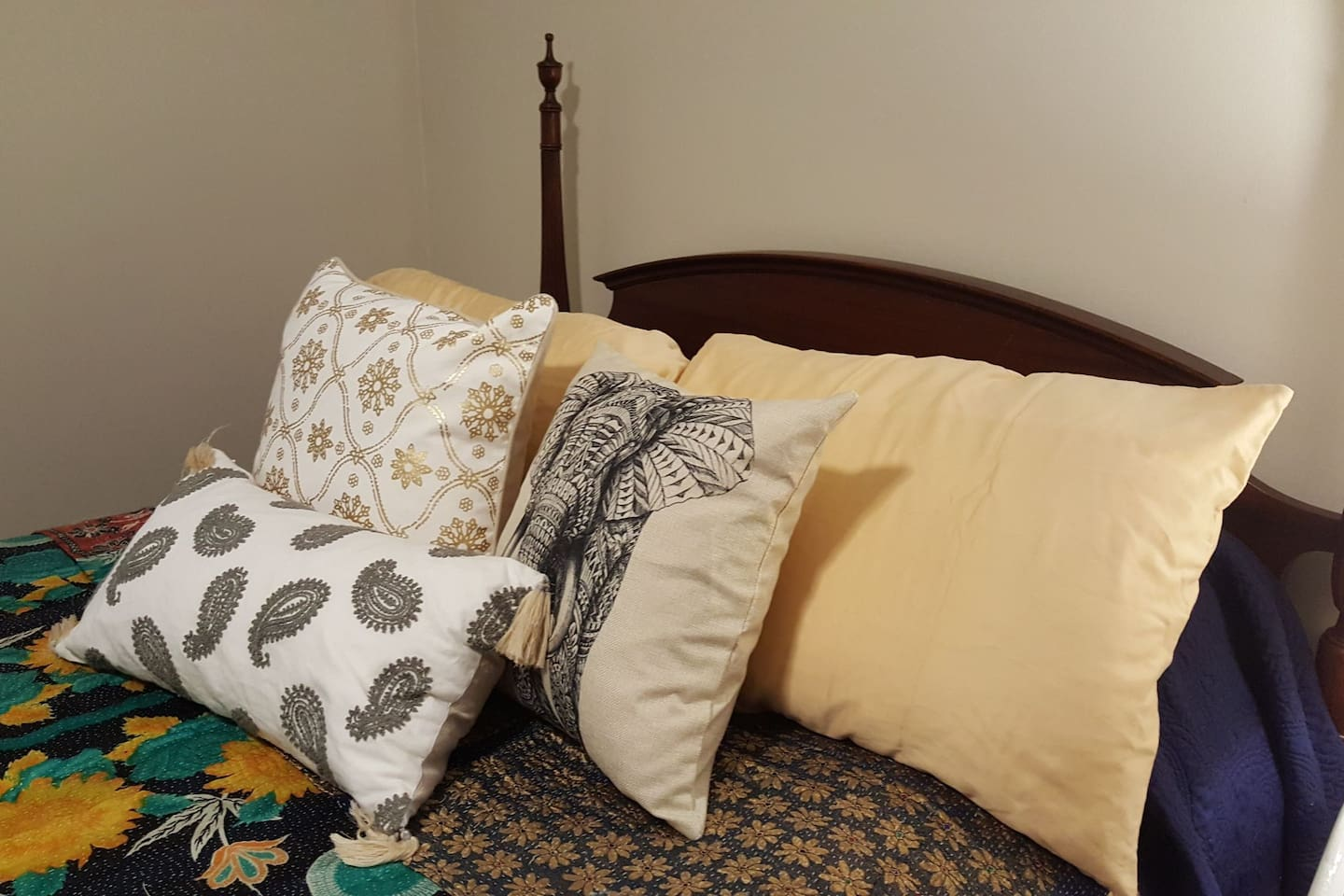 Extra pillows for your comfort