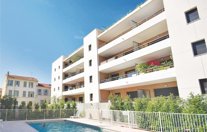 Awesome apartment in Cannes with Outdoor swimming pool, Outdoor swimming pool and 0 Bedrooms
