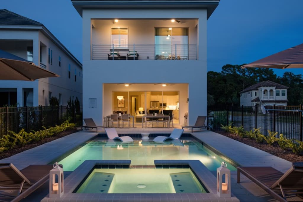 Evening dips in your southwest facing pool will be enchanting