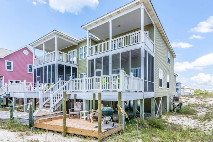 Dolphin East Beach home, Gulf Front Luxury & Pool - Gulf Shores - Huis