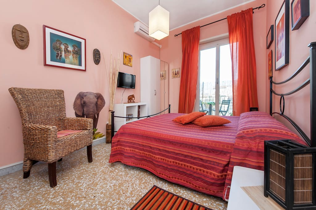 Camera etnica b b roma chambres d 39 h tes louer rome for Chambre hote rome