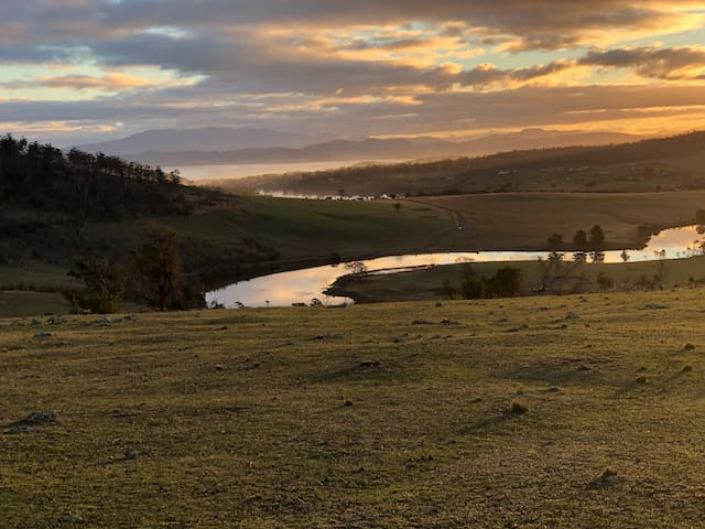 Carlton River Tasmania Campsites. Water views. Perfect location to chill 35 mins to Hobart