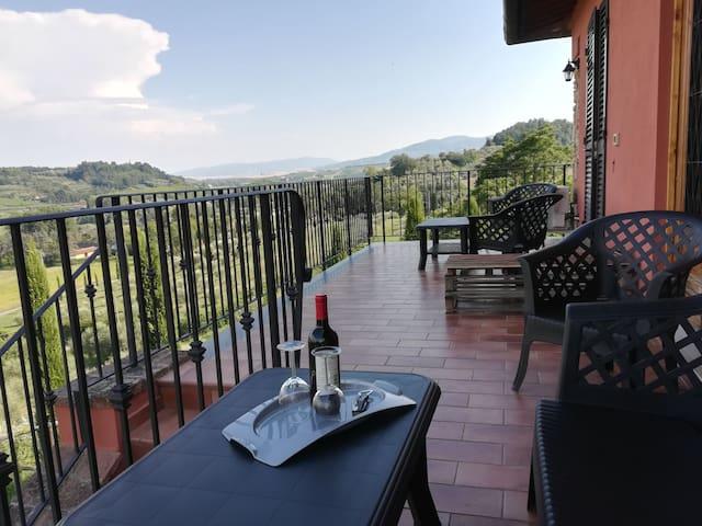 Tuscany hills, wonderful terrace