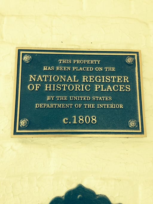 National Register of Historic  Places  Built in 1808