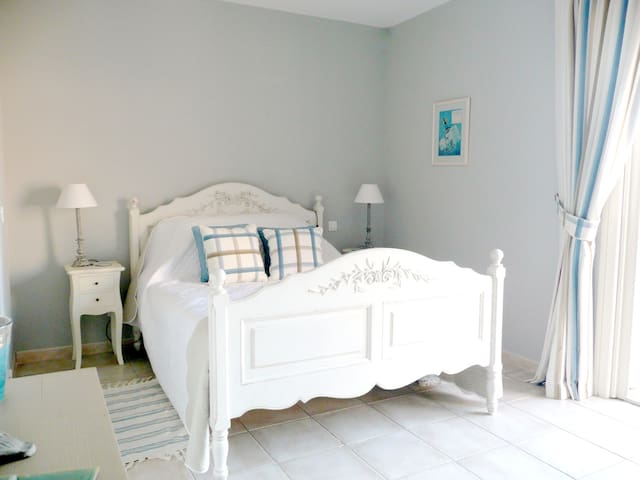 Pretty en-suite bedrooms decorated in the French style!
