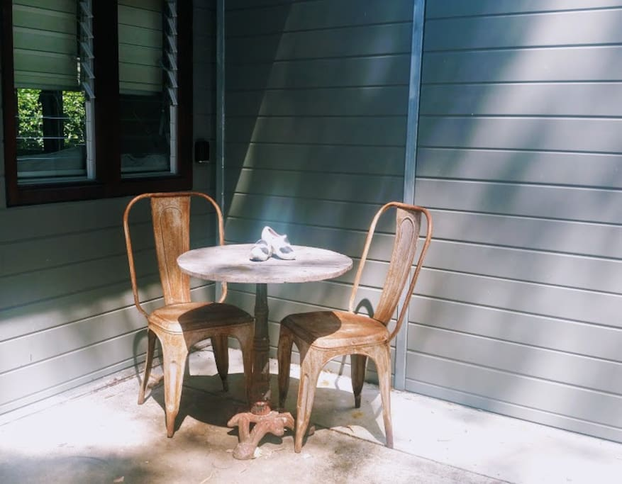 Enjoy the morning sun outside the door.  Walk across the street for a coffee of your choice at the neighborhood coffee shop and enjoy your own little corner of the world.