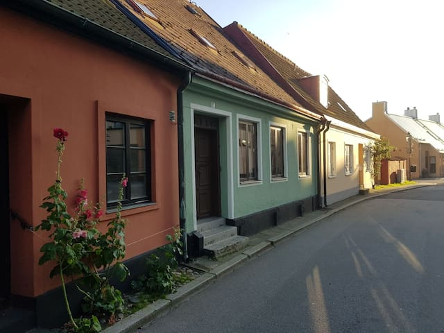 Cozy street house in city center