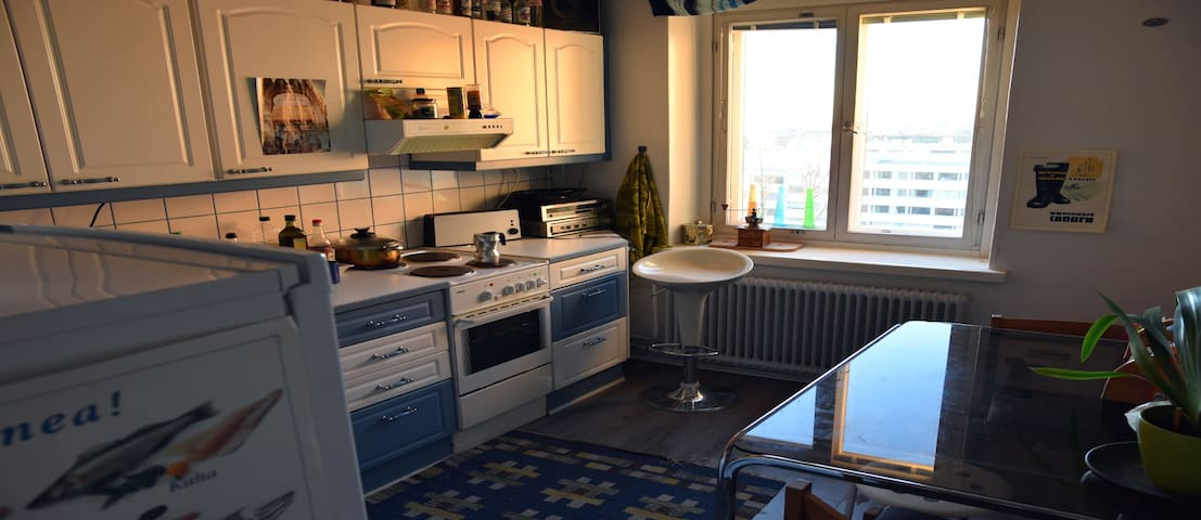 The kitchen again