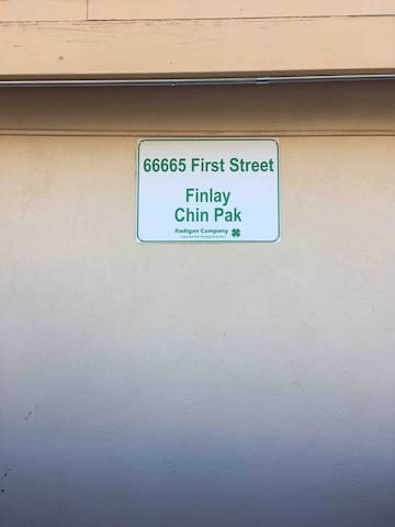 Look for the sign facing the street; You've arrived!
