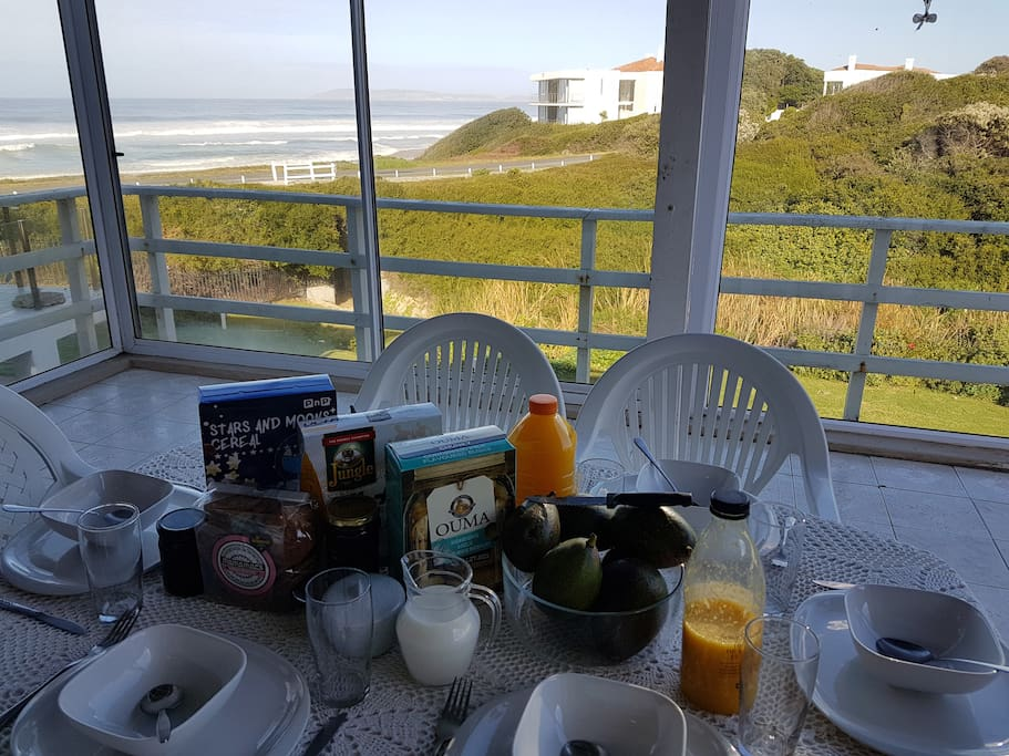 Or have breakfast under cover on the balcony