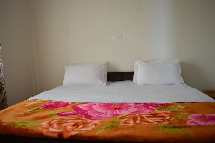 The double bed room with super soft mattress.