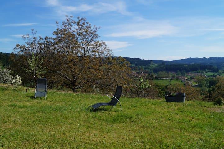 Petite maison, cadre verdoyant dans hameau