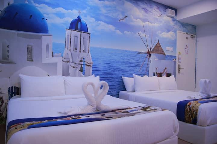 Santorini Hotel Melaka,Jonker Street,Family R6