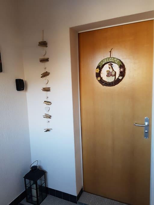 Wohnungseingang - herzlich Willkommen