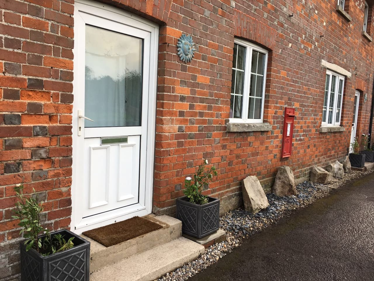 Number 4 used to be the old Post Office, we still have the post box in the wall.  Street parking available right outside the front door