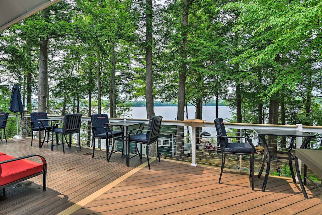 'The Lodge' is a high-end home on the shores of Maranacook Lake.