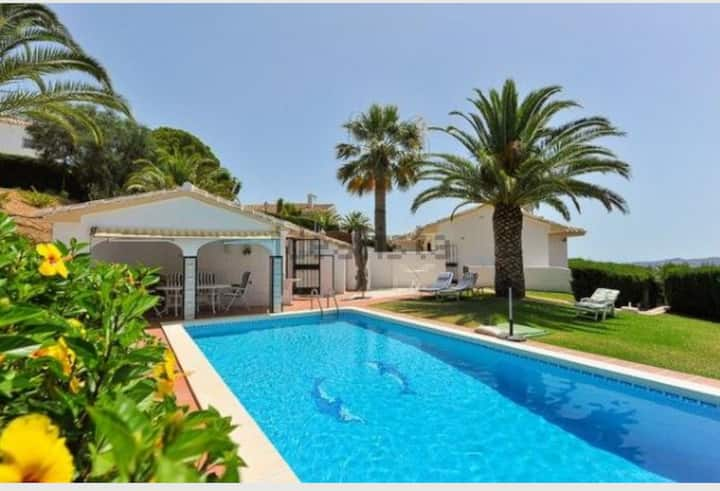 Villa Mijas with sea-mountain view & private pool