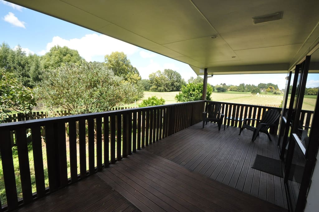 We love this deck and the views. Great spot to wile away a little free time.