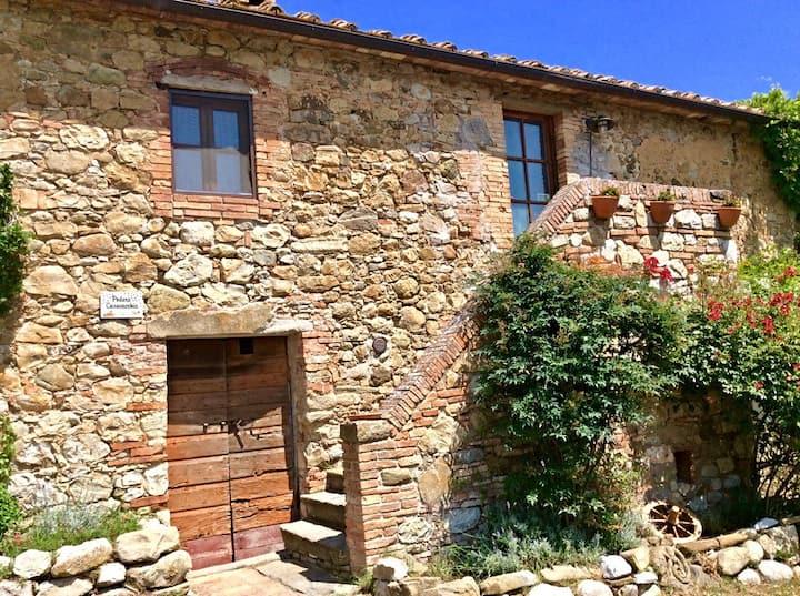 maison de charme vue sur le collines en toscane