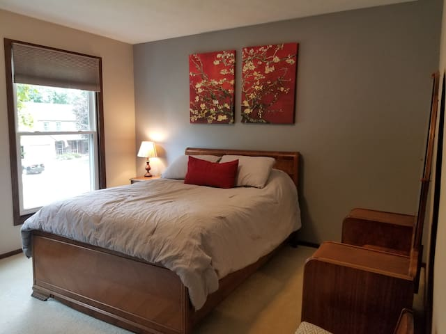 Second bedroom with a double bed.