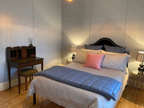 Beautiful bedroom in Federation house in Central Ballarat