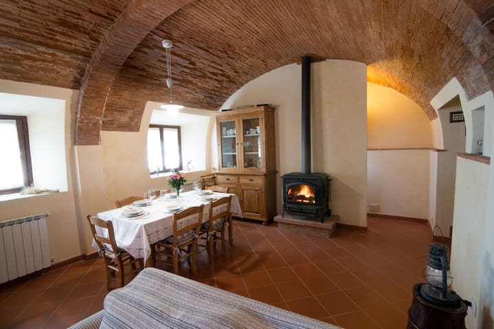 Dining with the wood stove