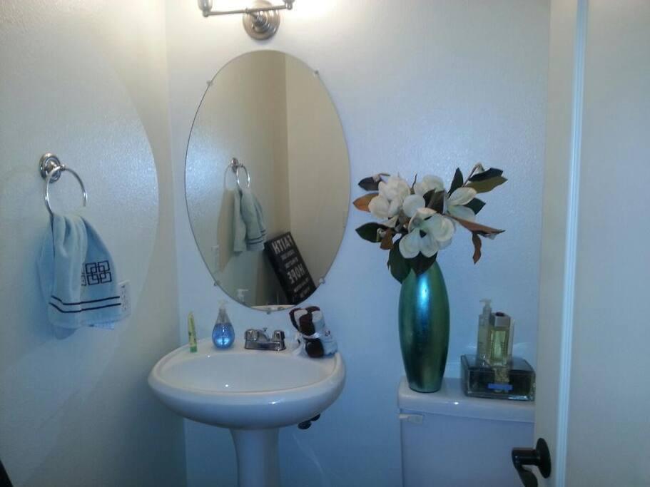 Downstairs, 1/2 bath. Still un-packing & adding more photos soon!
