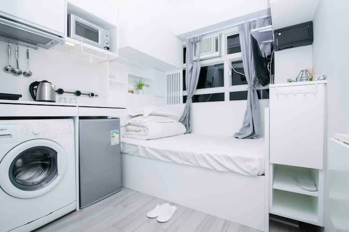 灣仔新裝修住所,地點方便All-in-one Studio Apartment in Wanchai