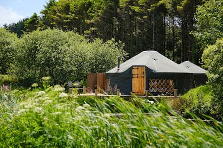 The Sail House luxury yurt by the lake!
