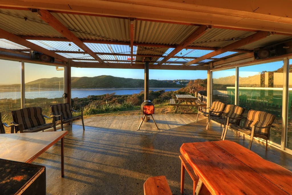 Your sunny North facing deck features an open fire, stereo and a BBQ