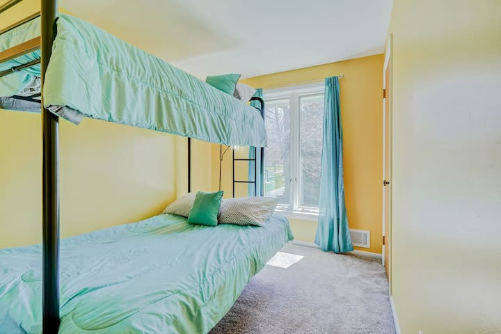 Third bedroom provides a double and a single bunk bed - great for the kids!