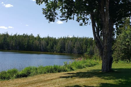 On a private Lake, completely secluded Property.