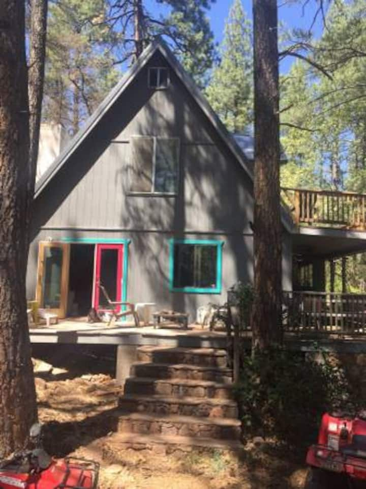 Payson cabin on creek: come see Fall colors