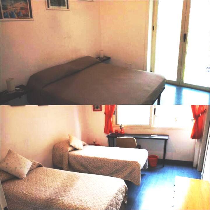 2 stanze/2 bagni/4 ospiti. Salerno centro/Stazione