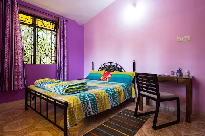 Cosy 2BR Sleep 6 House - Majorda, South Goa - Majorda - Casa