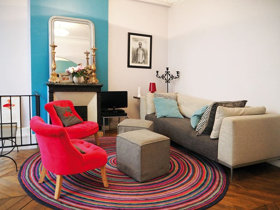 Salon confortable et intime. Intimate and comfortable living- room