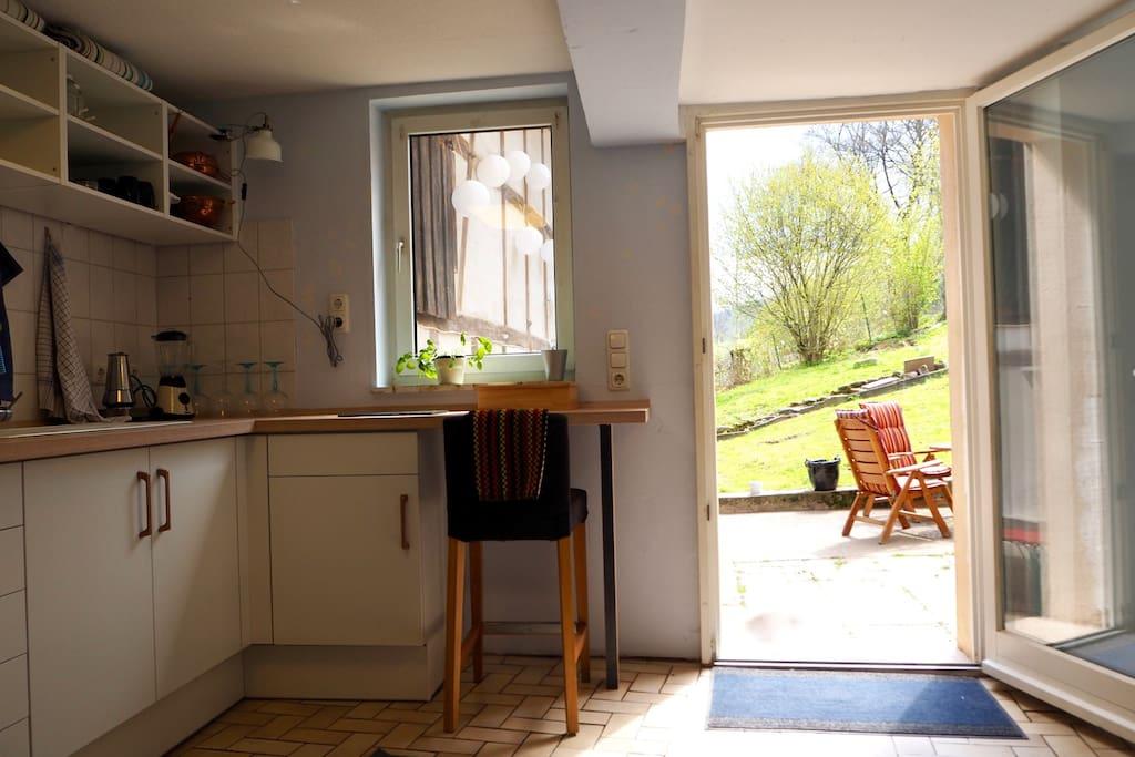 Noch ein Ausblick aus der schönen Küche