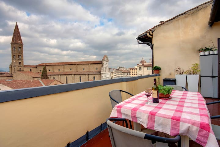 Double room with amazing view! - Florence - Huis