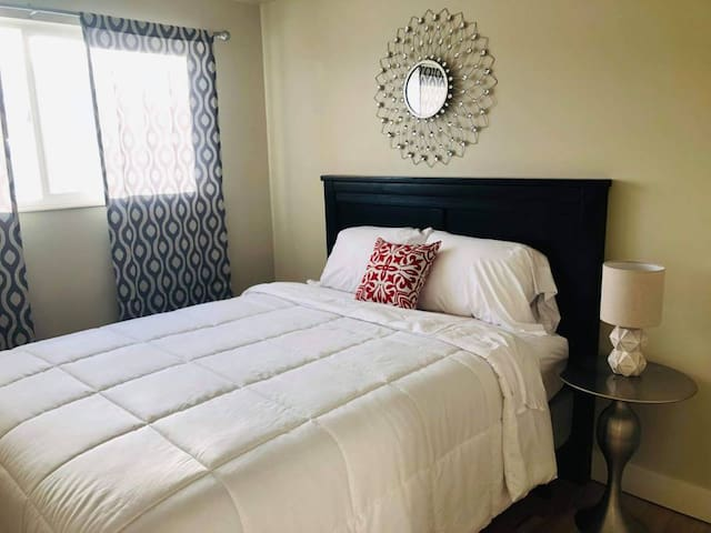 Park City bedroom with queen bed