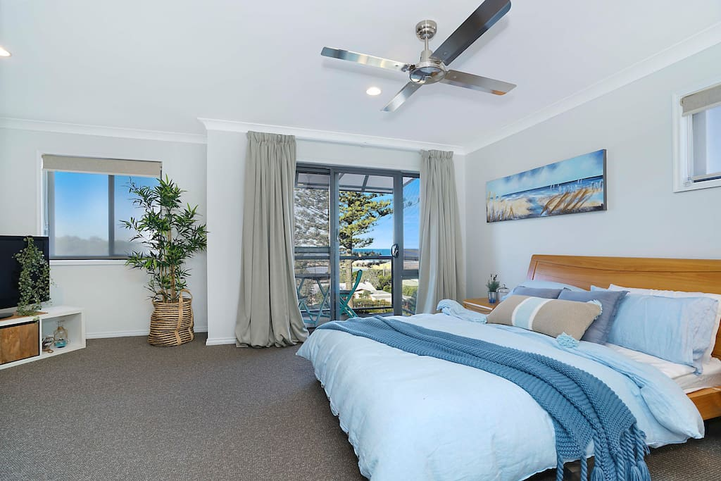Master bedroom with spectacular ocean views.