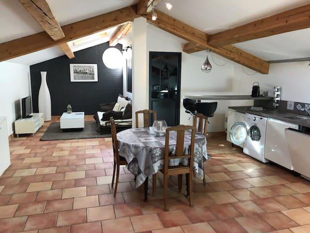 haut de villa4 couchages à Ollioules 70m²+terrasse