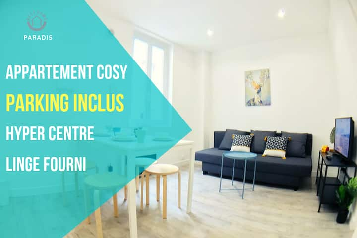 ​❤❤❤ BestHomeNiort Paradis - Appartement Calisson - Tout confort - HYPERCENTRE - PARKING INCLUS ❤❤❤