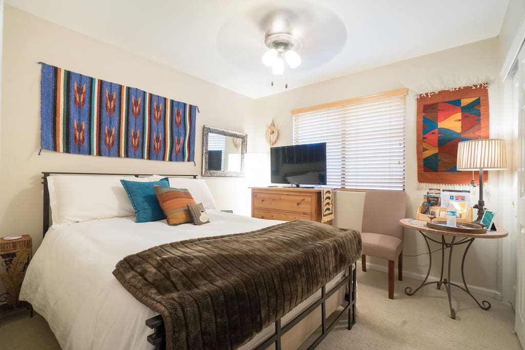 Your Guest Room with Queen Size Bed and Apple TV