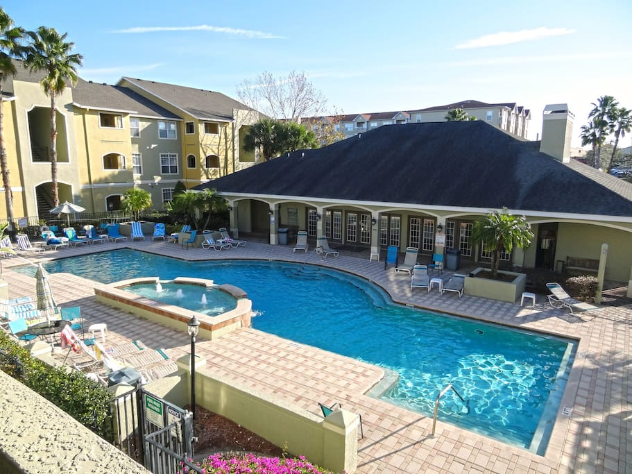 Just relax and have fun in a beautiful heated pool