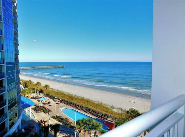 ⭐Honeymoon Suite/King Bed 7th Floor! Wow, Great Views Of Ocean!