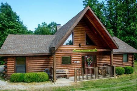 Cricket Creek 3 Bdr Log Cabin, WIFI, Outdoor pool - Ridgedale - Chatka